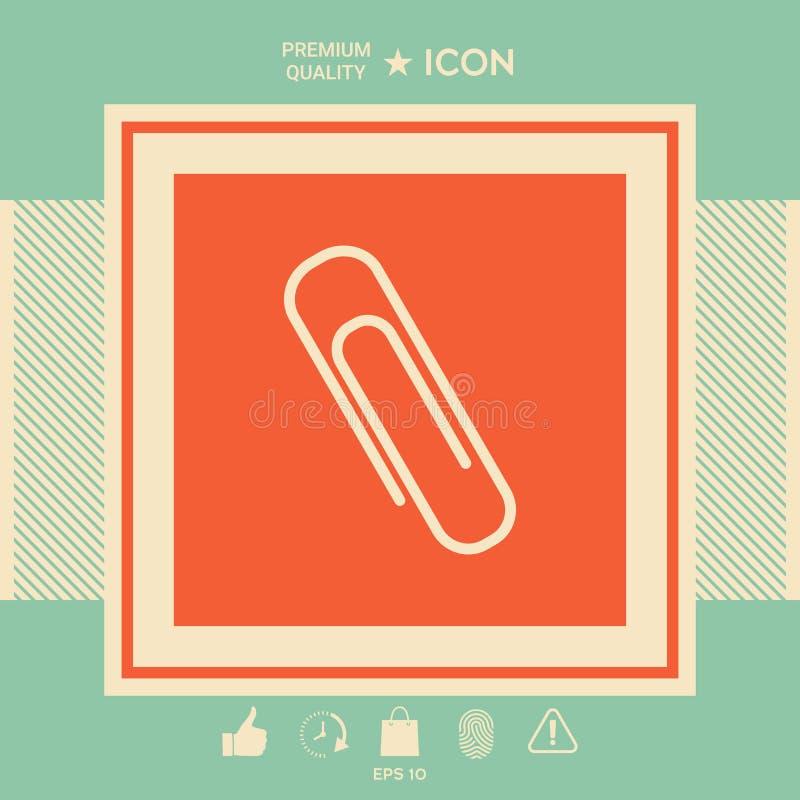 Papierowej klamerki ikona ilustracja wektor