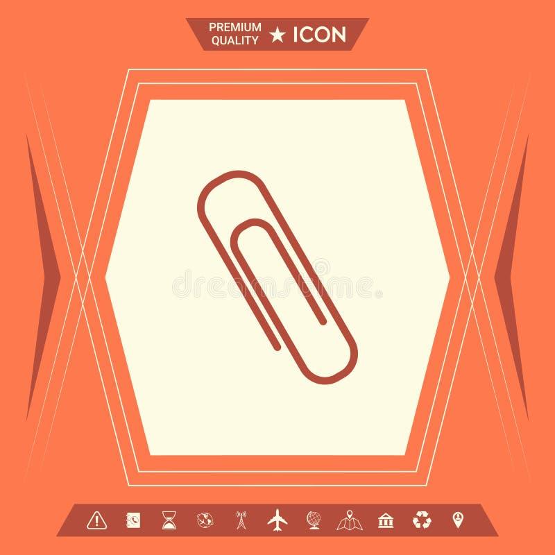 Papierowej klamerki ikona ilustracji