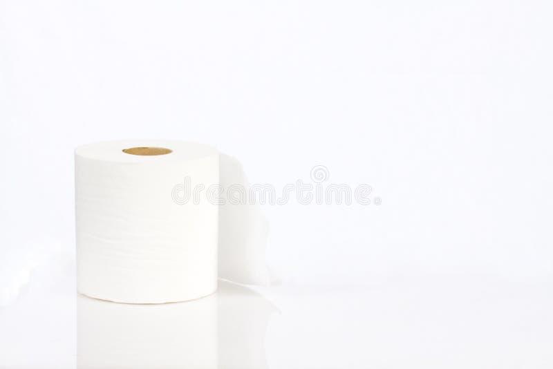 papierowej rolki toaletowy biel fotografia stock