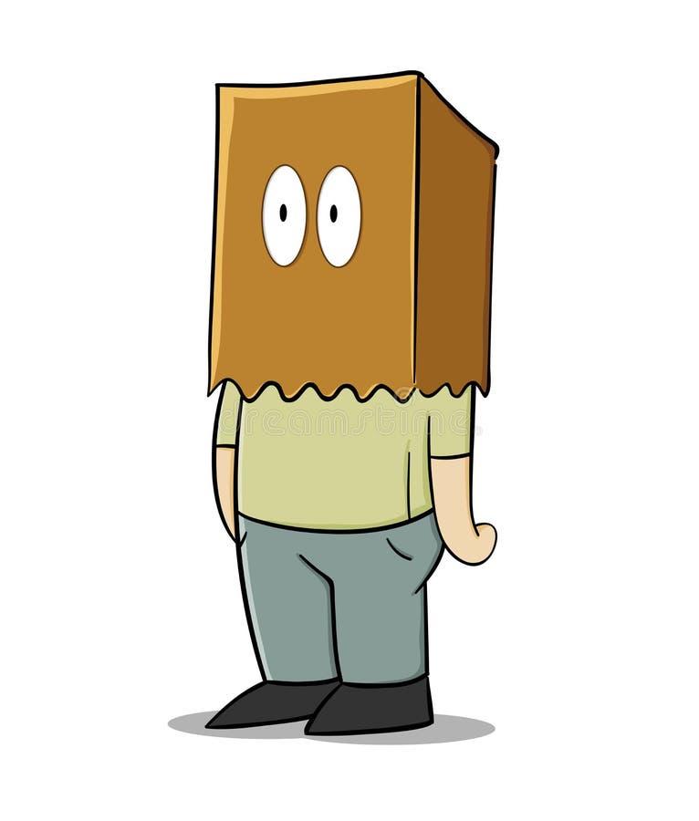 Papierowej torby mężczyzna royalty ilustracja