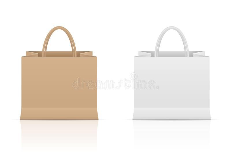 Papierowej torby set ilustracji