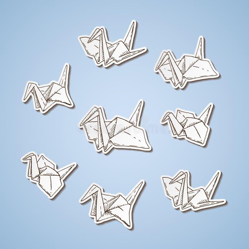 Papierowi żurawie royalty ilustracja