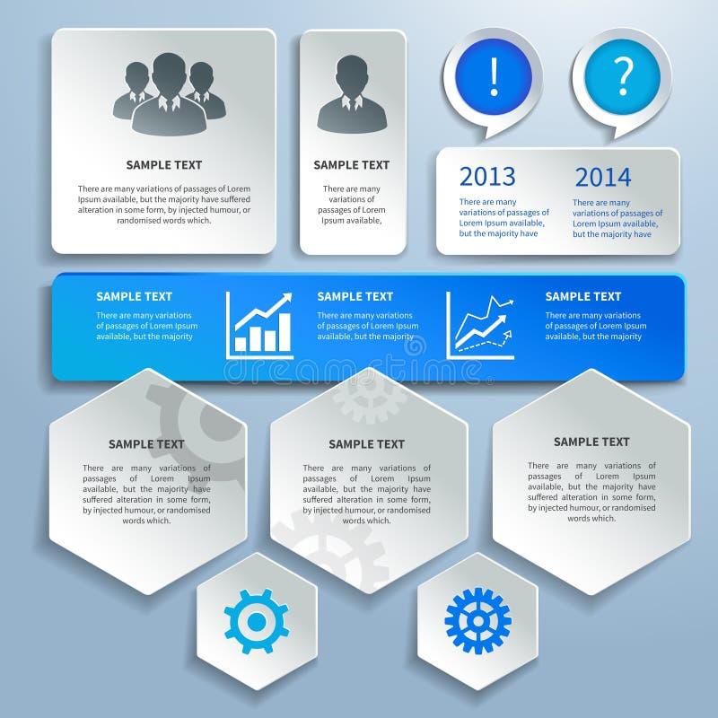 Papierowi biznesowi infographics projekta elementy royalty ilustracja