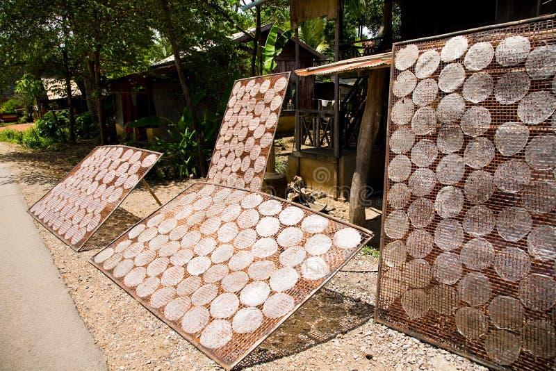 papierowi Cambodia ryż obraz stock