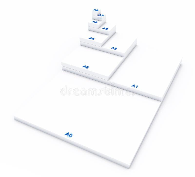Papierowi formaty obrazy stock