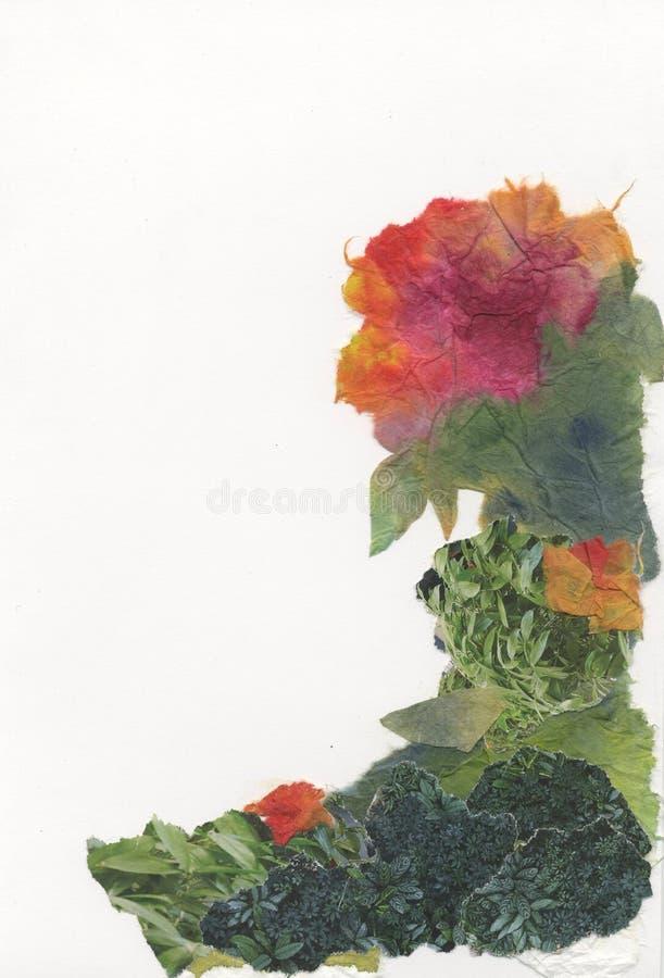 Papierowi kwiaty, różny kolor, tło, kąty, projekt ilustracji