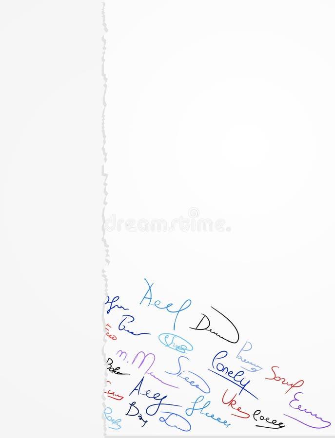 papierowi podpisy ilustracji