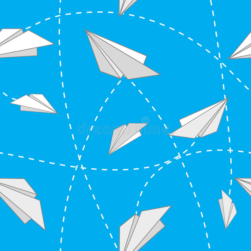 papierowi samoloty royalty ilustracja