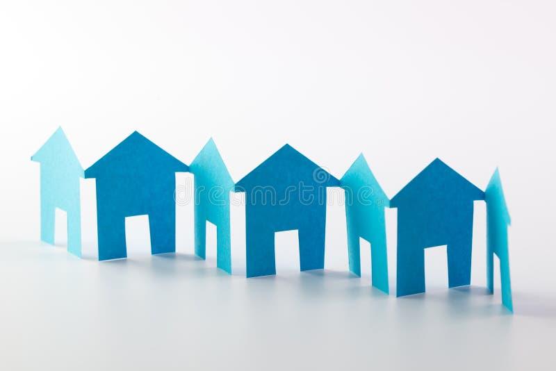Papierowy łańcuszkowy neighbourhood obraz stock