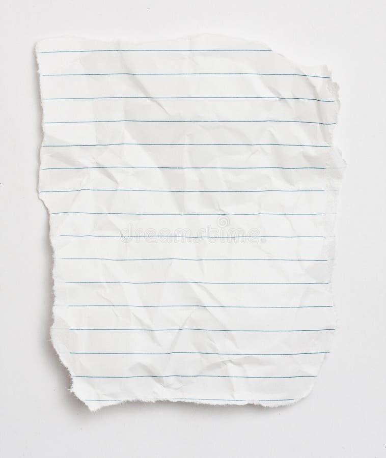 papierowy świstek zdjęcia royalty free