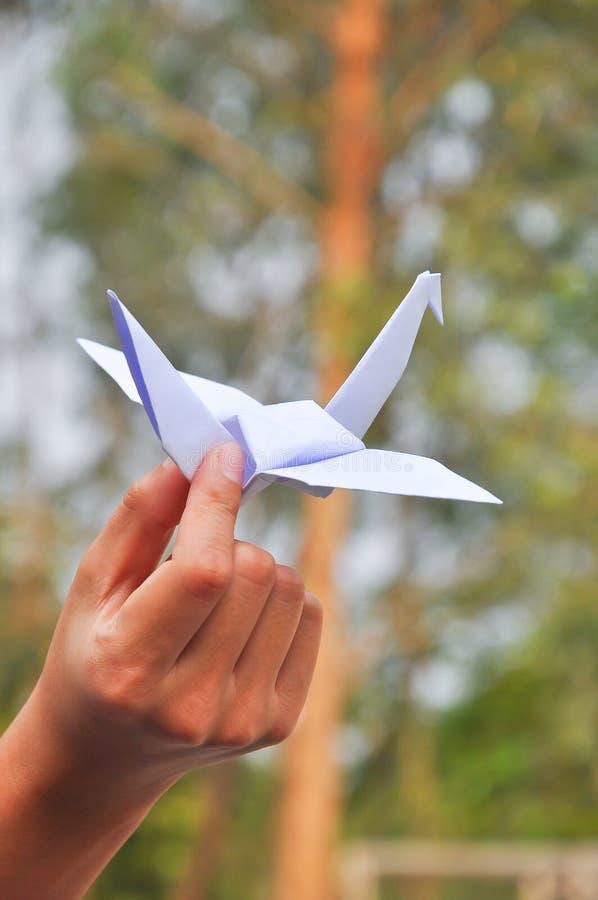Papierowy żuraw fotografia royalty free