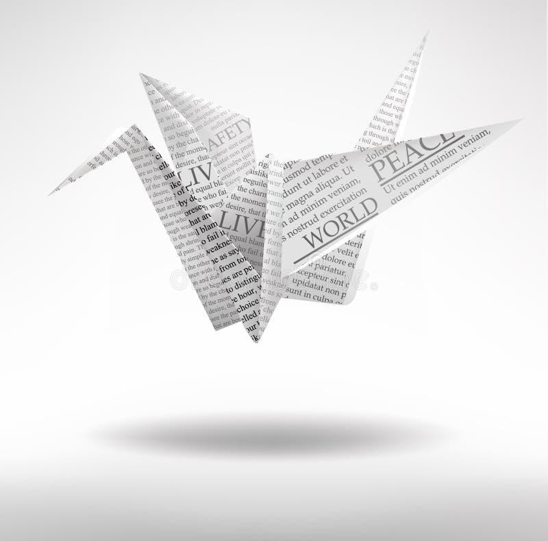 Papierowy żuraw royalty ilustracja