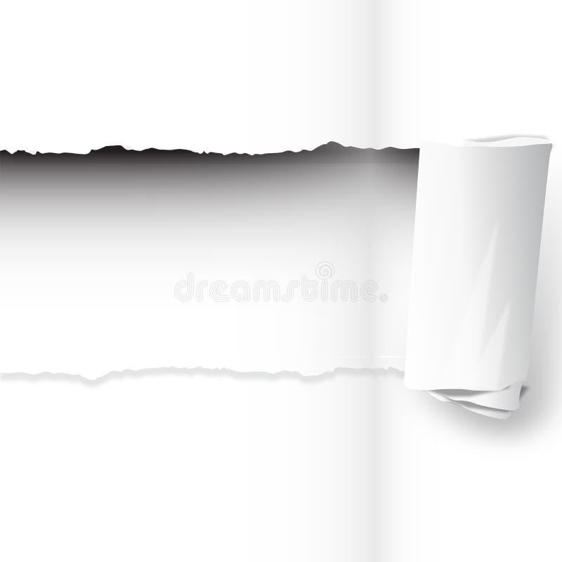 Papierowy drzeć ilustracji