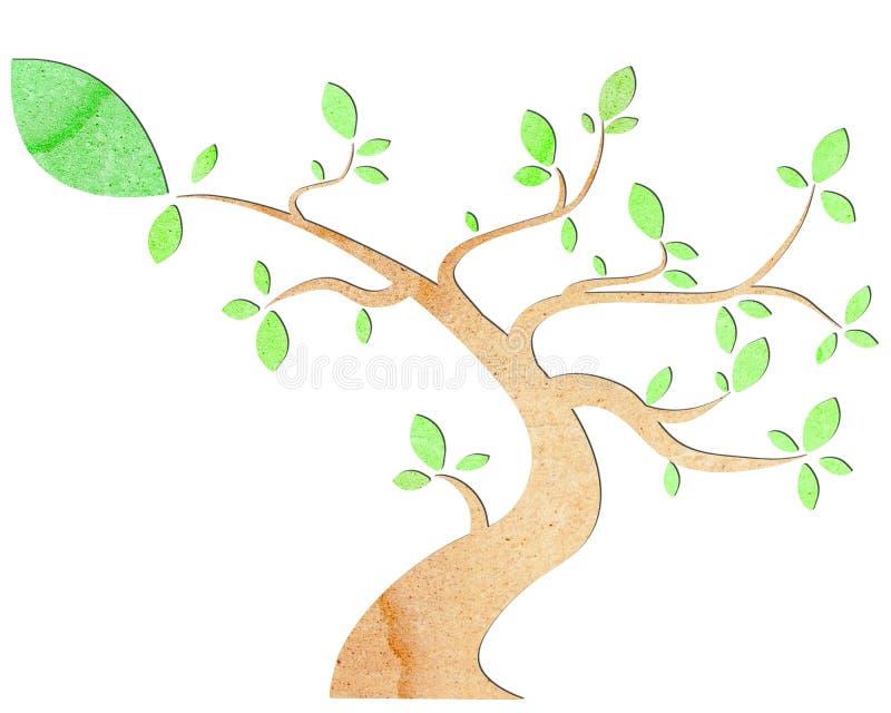 papierowy drzewo royalty ilustracja