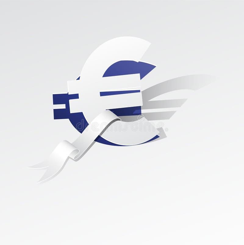 Papierowy euro ilustracji