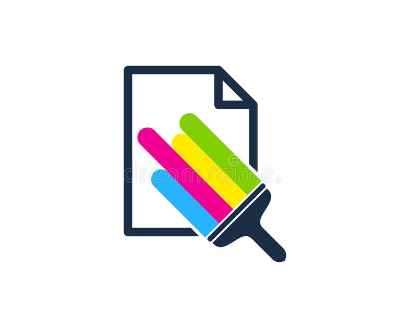 Papierowy farba loga ikony projekt royalty ilustracja
