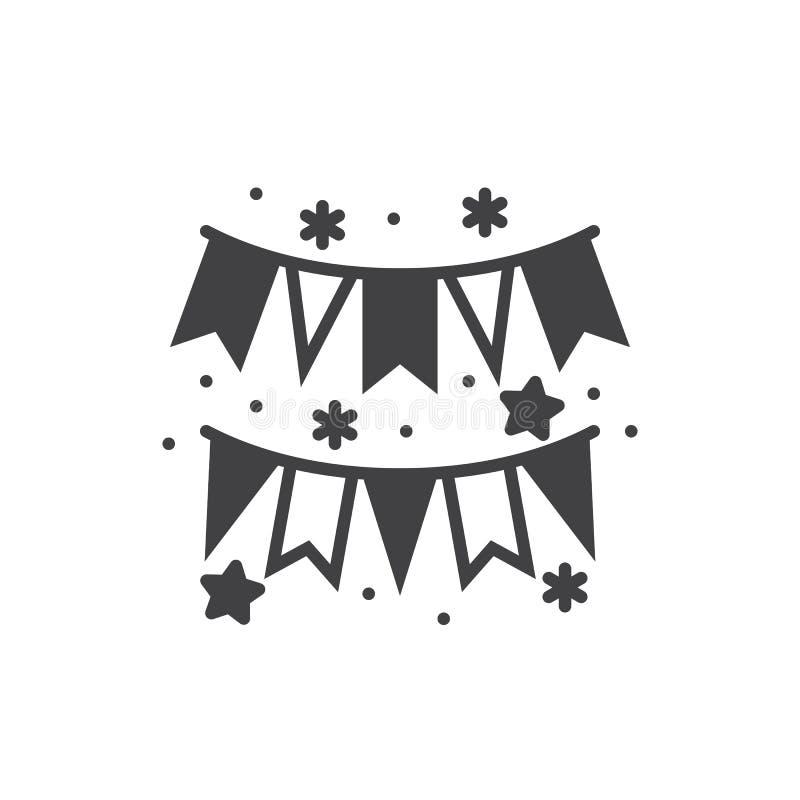 Papierowy girlandy ikony wektor, wypełniający mieszkanie znak, stały piktograma iso ilustracja wektor