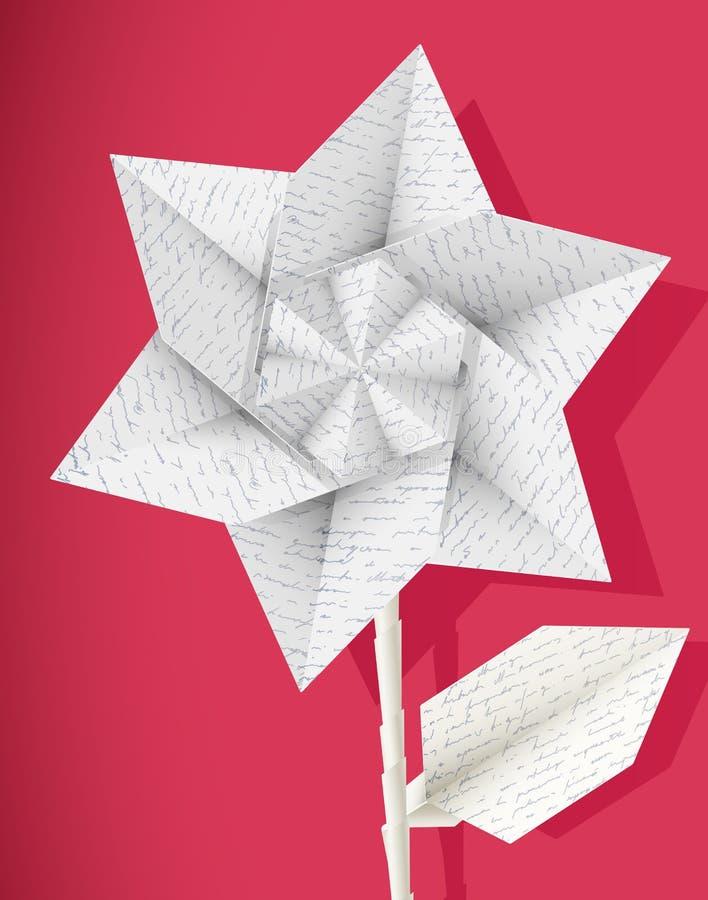 Papierowy gwiazdowy kwiat. ilustracji