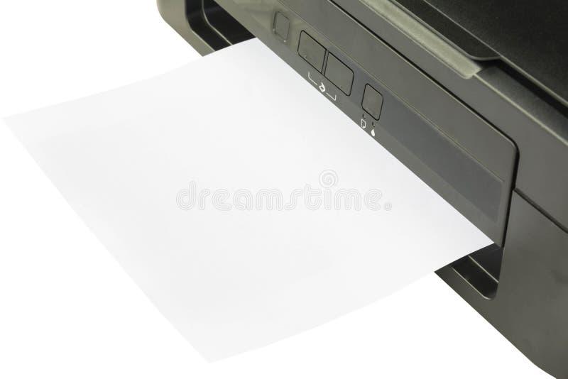 Papierowy karmienie z drukarki zdjęcie royalty free
