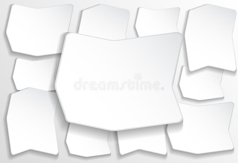 Papierowy kwadratowy sztandar ilustracji