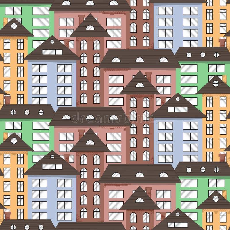 Papierowy miasto w niebie. obraz stock