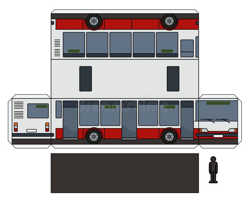 Papierowy model miasto autobus royalty ilustracja