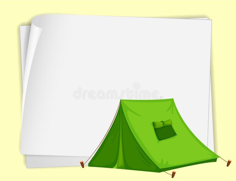 papierowy namiot ilustracji