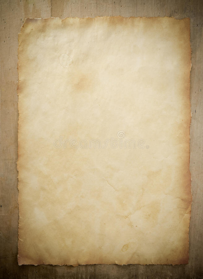 papierowy pergaminowy drewno fotografia stock