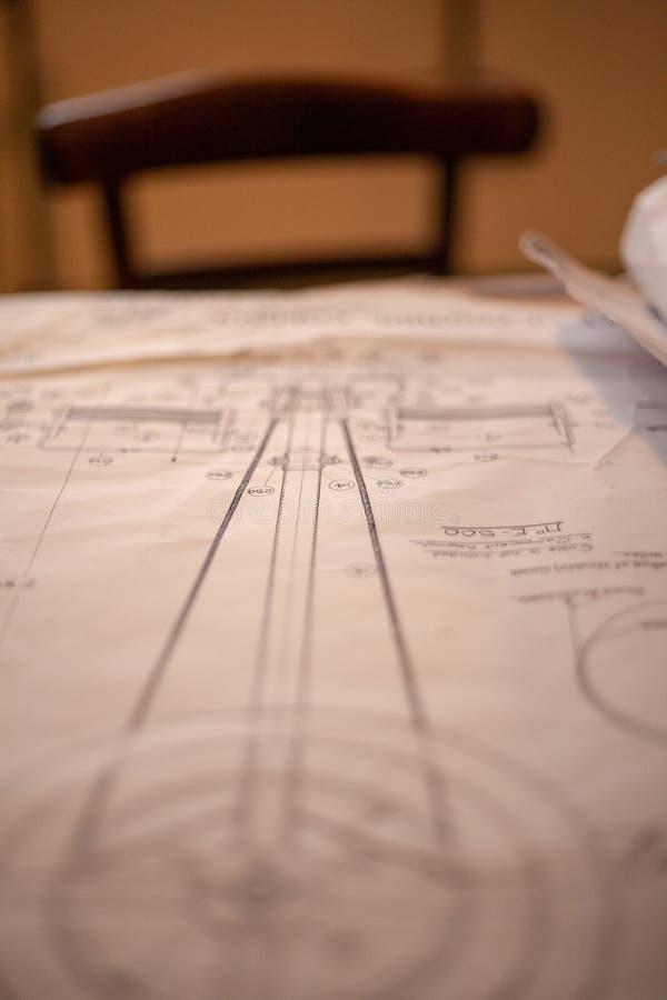 Papierowy plan obrazy royalty free