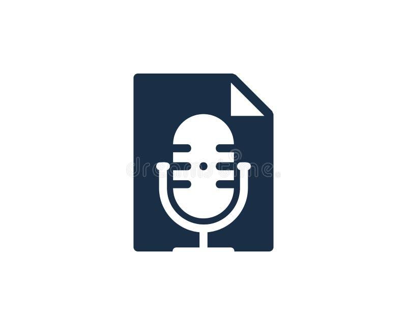 Papierowy Podcast loga ikony projekt ilustracji