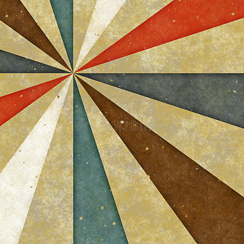 papierowy retro stylowy sunburst ilustracji