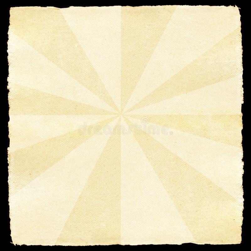 papierowy retro sunburst ilustracja wektor