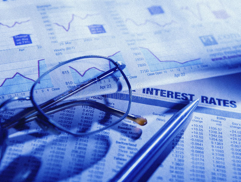 papierowy rynku finansowy zapas zdjęcia stock