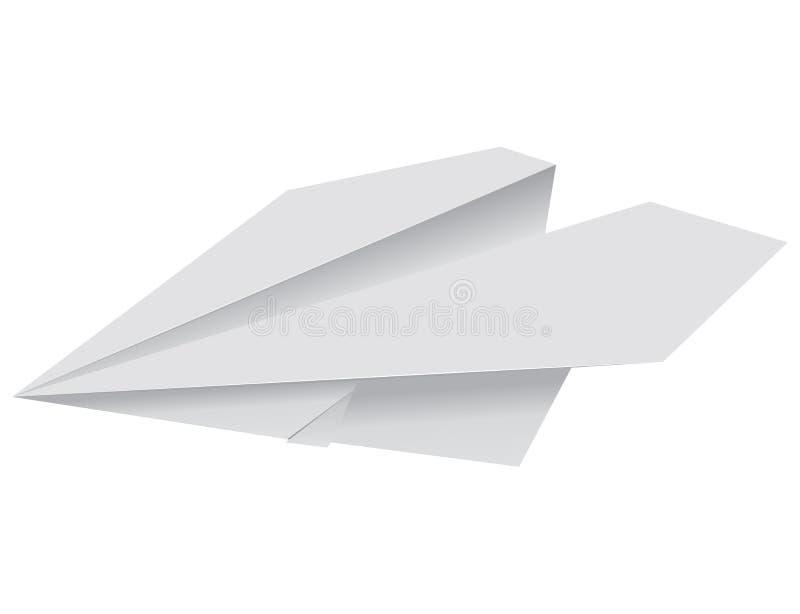 papierowy samolot royalty ilustracja