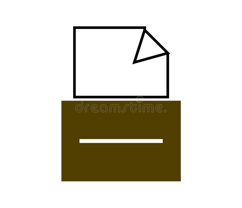 Papierowy segregator w kreślarzie, odizolowywa royalty ilustracja