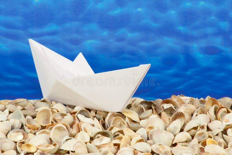 papierowy statek obrazy royalty free