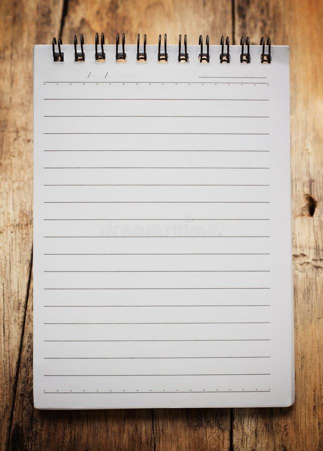 Papierowy strona notatnik obrazy stock