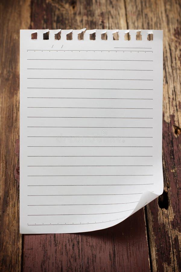 Papierowy strona notatnik zdjęcia royalty free