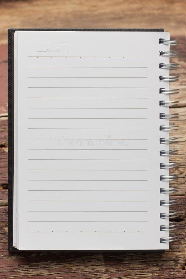 Papierowy strona notatnik fotografia royalty free