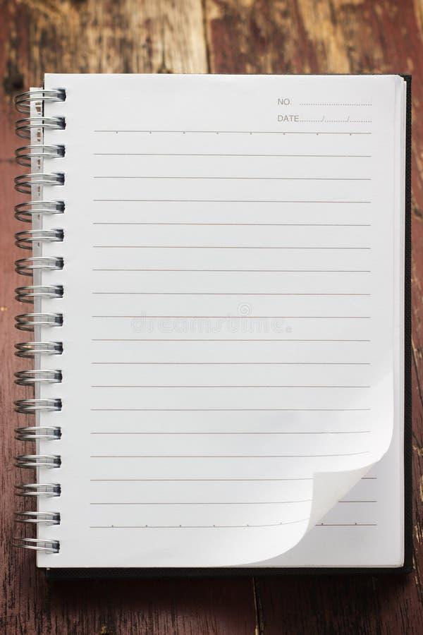 Papierowy strona notatnik zdjęcie stock