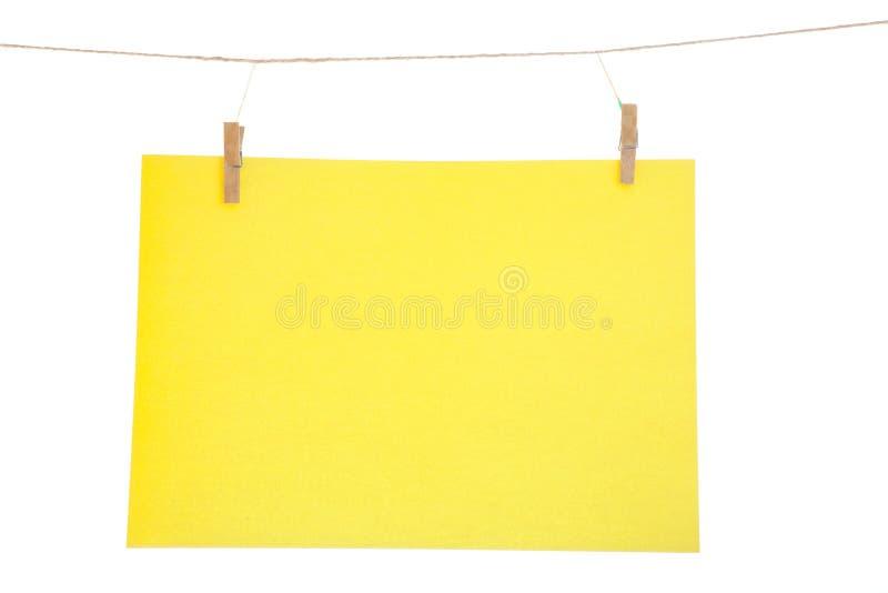 papierowy szkotowy kolor żółty fotografia stock