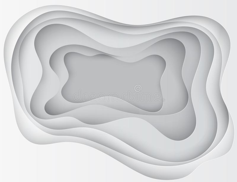 Papierowy sztuki 3D abstrakcjonistyczny tło z origami kształtuje ilustracji