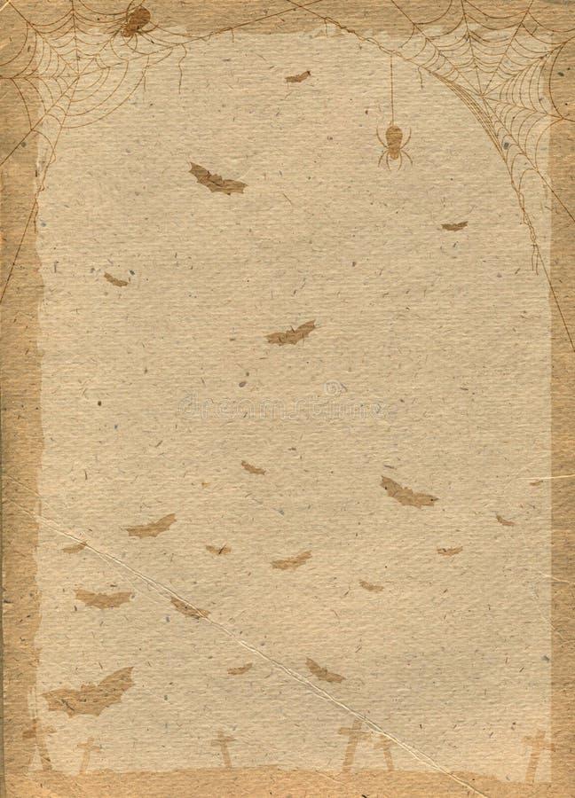 Papierowy tło stylizujący dla Halloween ilustracja wektor