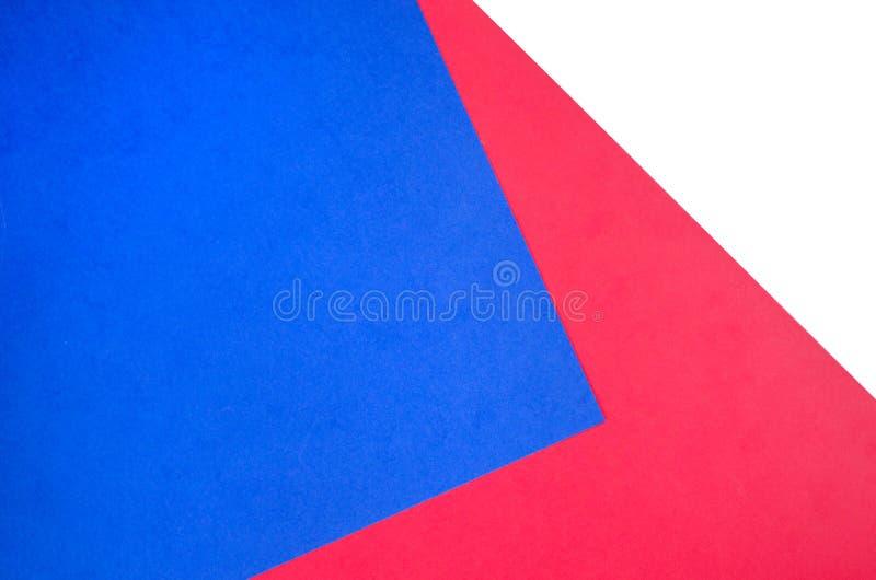 Papierowy tło w białym, czerwieni i błękicie, zdjęcie royalty free
