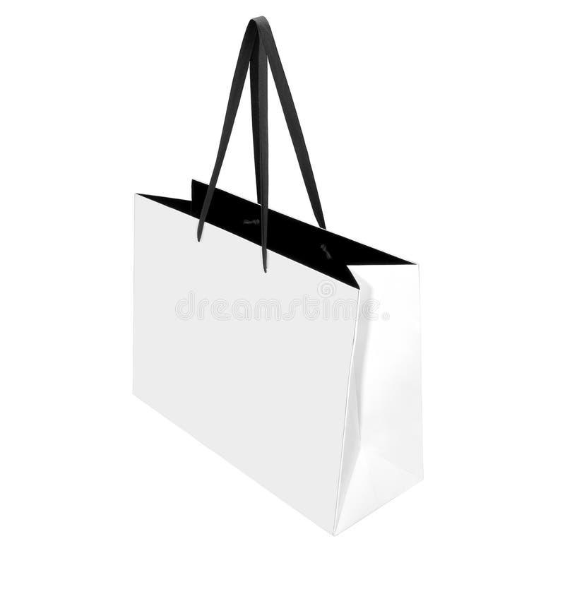 papierowy torba biel fotografia royalty free
