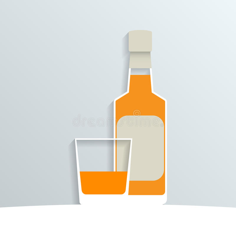 Papierowy whisky royalty ilustracja