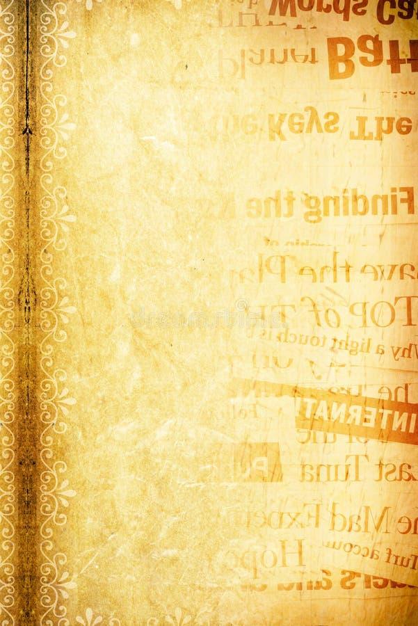 papierowy wiadomość tekst obraz royalty free