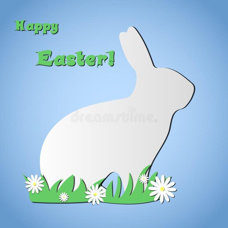 Papierowy Wielkanocny królik w trawie obrazy stock
