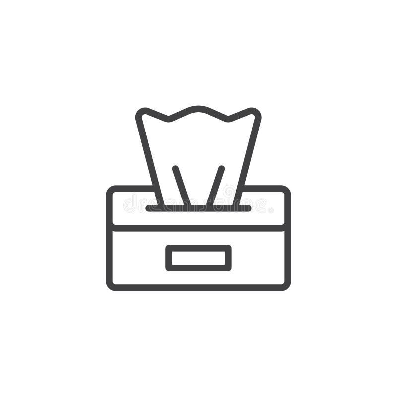 Papierowych pieluch pudełka konturu ikona ilustracji