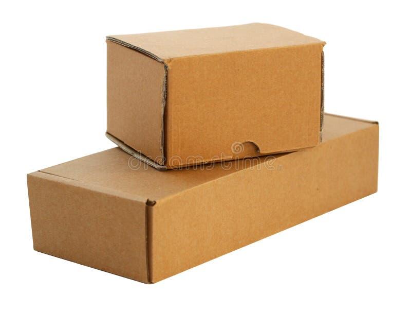 Papierpaket zwei stockfoto
